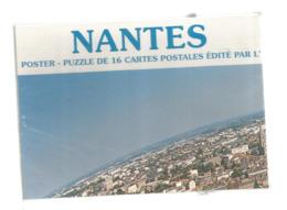 Cp ,carte à Système ,44,  NANTES ,  Neuf , Emballage D'origine ,non Ouvert , Poster Puzzle De 16 CARTES POSTALES - A Systèmes