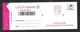 FRANCE Lettre Suivie LS 4 Type Ciappa, 2ème Tirage 2016.Fond Du Timbre En Pointillés . Neuf ** - Frankrijk