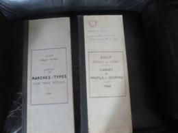 SNCF VINTAGE - RARE 2 CARNETS MARCHES TYPES 1951 ET PROFILS ET SCHEMAS 1960- COMME NEUFS - Chemin De Fer & Tramway