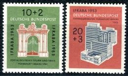 BRD - Mi 171 / 172 - * Ungebaucht (A) Haftspur, Falz - 10+2-20+3Pf  IFRABA - [7] West-Duitsland
