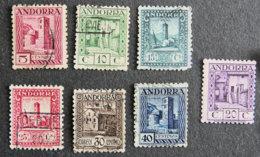 ANDORRE ESPAGNOL - 1931 - YT 16B à 22 B - Gebraucht