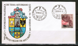 SPAIN  1966 GIJON PHILATELIC EXHIBITION COVER (28/MAR/66) (OS-503) - 1961-70 Lettres