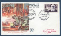 France - FDC - Premier Jour - Pierre Martin - Bourges - 1955 - FDC