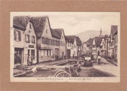 CPA 67, Gertwiller, épicerie Poppé Et Grand'rue, Animée, Rare ++ - Francia