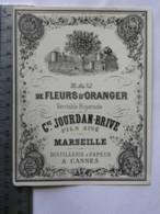 Etiquette De Parfum - Jourdan Brive - Marseille - Eau De Fleurs D'oranger - Lot De 4 - Labels