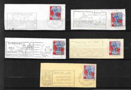 FRANCE 1960/61  Lot 5  Timbres N° 1234 +  Flamme Sur Fragment - Autres