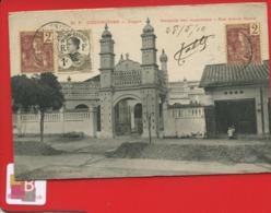 Cochinchine SAIGON Mosquée Musulmans Rue Amiral Dupré  Cachet Dos 27 Mai 1910 PAQ FR N5 LIGNE N - Vietnam
