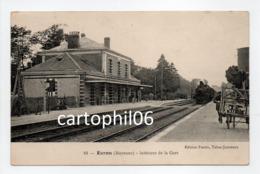 - CPA EVRON (53) - Intérieur De La Gare 1914 (arrivée Du Train à Vapeur) - Edition Fortin N° 10 - - Evron