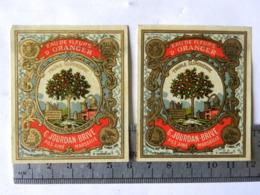 2 Etiquettes Eau De Fleurs D'Oranger - Marseille - G. Jourdan Brive - Labels