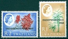 Swaziland - 1968 - Yt 154/155 - Série Courante - ** - Swaziland (1968-...)