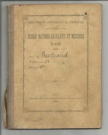 VP.0580/ Ecole Nationale D'Arts & Métiers D'Aix - Livret De 1892-1894 - Règlement école - Vieux Papiers