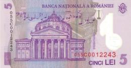 ROMANIA P. 118a 5 L 2005 UNC - Rumania