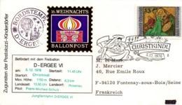 Christkindl 1976 - Ballonpost - Freiballon Montgolfière - [7] République Fédérale