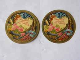 2 Etiquettes - Brillantine Cristallisée Aux Fleurs - Dupont Parfumeur - Labels
