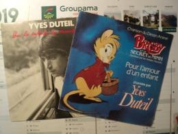 YVES DUTEIL. PAIRE DE 45 TOURS. 1982 / 1987 2 C 008 72679 / 2020897. CHANSON DU DESSIN ANIME BRISBIN ET LE SECRET DE NI - Vinyl Records