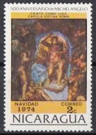 """Nicaragua 1974 Sc. 955 """"Giudizio Universale (Dettaglio : Cristo)"""" Affresco Dipinto Michelangelo Buonarotti Paintings MNH - Religión"""