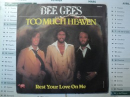 45 TOURS BEE GEES. 1978. TOO MUCH HEAVEN / REST YOUR LOVE ON ME. RSO 2090 331 ED CAREFF. - Sonstige - Englische Musik