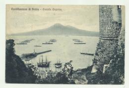CASTELLAMMARE DI STABIA - CASTELLO ANGIOINO 1928 VIAGGIATA FP - Castellammare Di Stabia