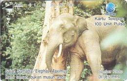 Indonesien - IND 202 ANIMALS IN DANGER - ELEPHANT - 100 Units - Indonesië