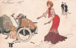 Liberty  -  L' Automobile In Panne  -  Ill.  Popini  -  Edit.  Stengel  &  Co., Dresden   29506 - Illustratori & Fotografie