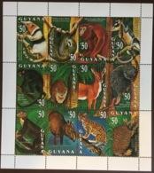 Guyana 1993 Mammals Animals Sheetlet MNH - Briefmarken