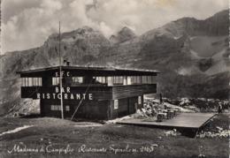 MADONNA DI CAMPIGLIO-TRENTO-RISTORANTE=SPINALE=CARTOLINA VERA FOTOGRAFIA VIAGGIATA IL 26-8-1950 - Trento