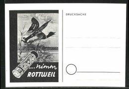 AK Rottweil, Einladung Zum Übungsschiessen, Ente, Patrone - Hunting