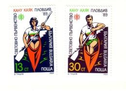 BULGARIE 1989 CANOE-KAYAK  Yvert: 3257/58   NEUF MNH** - Kanu