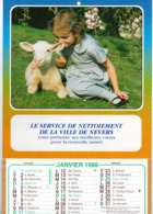 NEVERS Le Service De Nettoiement De La Ville Janvier 1998 CALENDRIER  DE Photo Agence Vloo - Calendriers