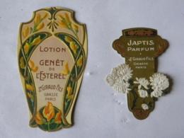 2 Etiquettes  Jean Giraul 06 Grasse - Lotion Genêt De L'Esterel,, Japtis Parfum - Etiquettes
