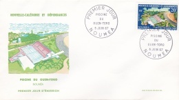 Nouvelle Caledonie FDC 1967 Piscine Du Ouen-Toro (G89-36) - Briefe U. Dokumente