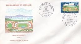 Nouvelle Caledonie FDC 1967 Stade De Magenta (G89-36) - Briefe U. Dokumente