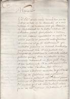 Jen. Requête Présentée Au Souverain. Novembre 1662. - Belgio