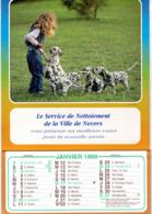 NEVERS Service De Nettoiement De La Ville Meilleurs Voeux Janvier 1999 CALENDRIER DE 12 Feuillet Photo Agence Pix F P G - Calendriers