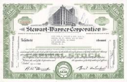 Bonds/Shares: 1959 Stewart-Warner Corporation, Value 10 Shares (A 388) - Industry