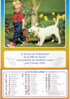 NEVERS Service De Nettoiement De La Ville Meilleurs Voeux Janvier 2000 CALENDRIER DE 12 Feuillet Photo Agence Pix F P G - Calendriers