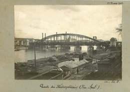 011019C - PHOTO 1905 PARIS Pont Du Métropolitain Vue Aval - Péniche - Stations, Underground