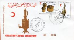 "Maroc;FDC 1979;TP N°827/28 "" Croissant Rouge Marocain ""Morocco;Marruecos - Morocco (1956-...)"