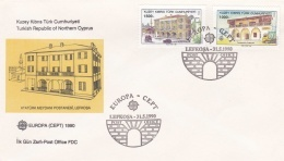 Turkish Cyprus 1990 FDC Europa CEPT (T12-20) - Europa-CEPT