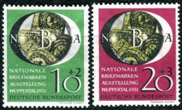BRD - Mi 141 / 142 - * Ungebraucht (A) Falze, Ansehen! - 10+2-20+3Pf    Nationale Briefmarkenausstellung - [7] West-Duitsland