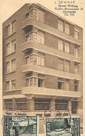 "Rare 1930s Belgian Postcard Of, ""Hotel Wiking"", Oostende, Stamped, Architecture, Art-Deco, Bauhaus - Alberghi & Ristoranti"