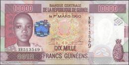 TWN - GUINEA 46 -10000 10.000 Francs 2012 Prefix XR UNC - Guinea