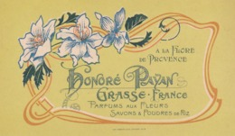 "CARTE PARFUMEE - A LA FLORE DE PROVENCE ""HONORE PAYAN"" - GRASSE - FRANCE - Cartas Perfumadas"