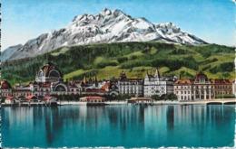 Lucerne : Bahnhof Und Pilatus. (Voir Commentaires) - LU Lucerne