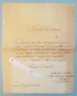 L.A.S 1828 Jean Pierre CORTOT - Sculpteur - Lettre Autographe à Un Vicomte - Paris - Autographes