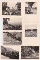 PHOTO-ORIGINAL-D'EPOQUE-VESPA-SCOOTER-ANNEE'50-LOT DE 7 PHOTOS-VOYAGE DE LA BELGIQUE A L'ALLEMAGNE-TOP+PIECES UNIQUE! - Coches