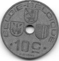 BELGIE - BELGIQUE - 10 Centimes - 1942 - 1934-1945: Leopold III