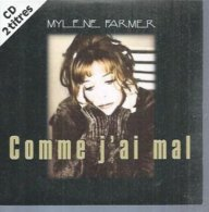 "CD  MYLENE FARMER  "" COMME J'AI MAL "" Radio Edit + Aches Remix  - 2 TITRES - Musik & Instrumente"