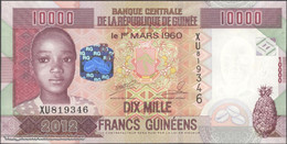 TWN - GUINEA 46 - 10000 10.000 Francs 2012 Prefix XU UNC - Guinee