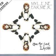 "CD  MYLENE FARMER  "" QUE MON COEUR LACHE ""  + Dub Remix  - 2 TITRES - Musik & Instrumente"
